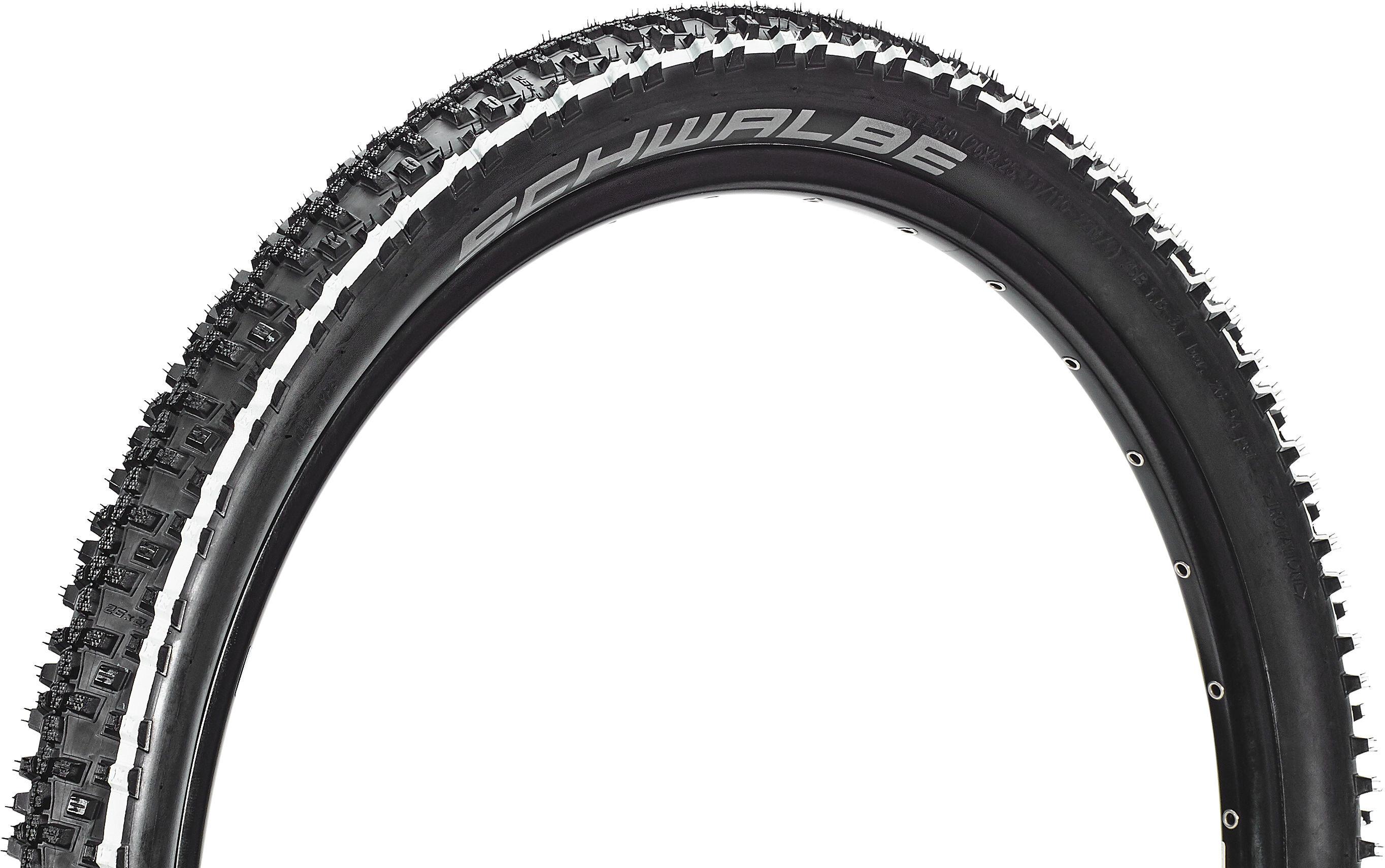 "26/"" Bike Tyre Clincher Schwalbe Smart Sam Addix Wire 26X2.25/"" Black//White"